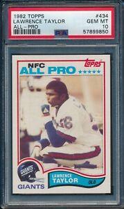 1982 Topps Football Lawrence Taylor ROOKIE #434 PSA 10 GIANTS GEM MINT HOF