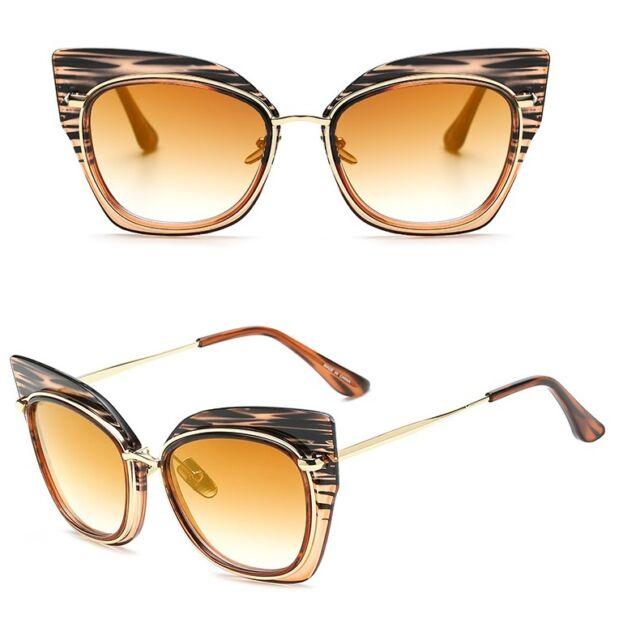 Large Oversized Designer Cat Eye Fashion Butterfly Vintage Women Sunglasses