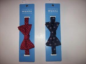 Countess-Mara-Bow-Tie-Mens-1pc-Cranberry-Mini-Dot-Navy-Anchor-New