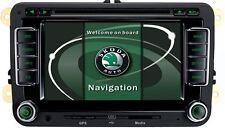 AUTORADIO GPS SKODA YETI OCTAVIA FABIA USB SD DIVX MP3 DVD CANBUS MAPPE MIRROR
