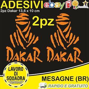 2-Adesivi-Dakar-Paris-Africa-Honda-KTM-Vinile-Decalco-Moto-Stickers-ARANCIONE