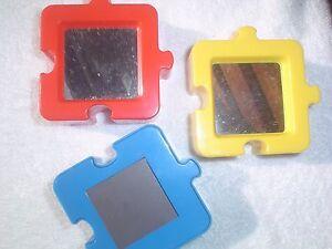 3 D Autism Awareness Puzzle Piece Mirror Picture Magnet Lot Of 1 Ebay