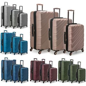 2084c1357 Image is loading US-Traveler-Gilmore-3pc-Hardside-Expandable -Spinner-Matching-