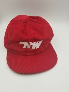 Vintage-NATIONS-WAY-NW-Courderoy-Patch-Strapback-Cap-Hat-Trucking