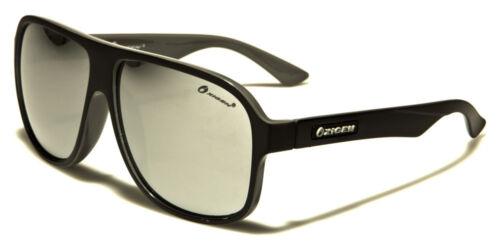 Designer Big Retro Sport Pilot Large Sunglasses Ladies Mens Black Mirrored
