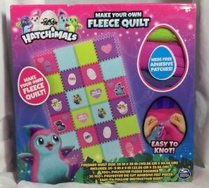 Hatchimals Make Your Own Fleece Quilt Blanket Knotting Craft Kids
