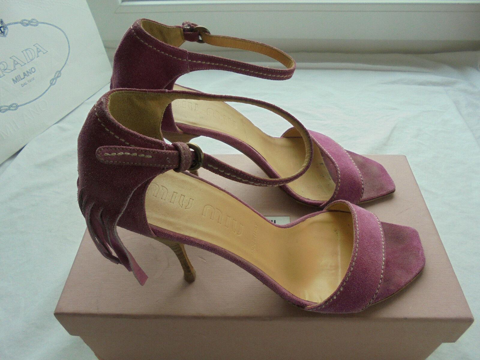 Miu Miu by Prada Leder Sandaletten NP:  w NEU Pumps Schuhe High Heels Gr. 40