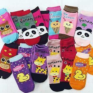 Bling-theme-ankle-fit-Baby-Kids-Toddler-Girls-Nonslip-Socks-5-10Set-3T-6T