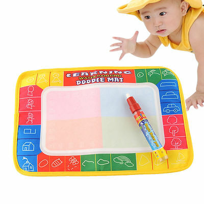 Baby Kids Toddler Painting Pen Water Mat Drawing Pad Preschool Education Toys