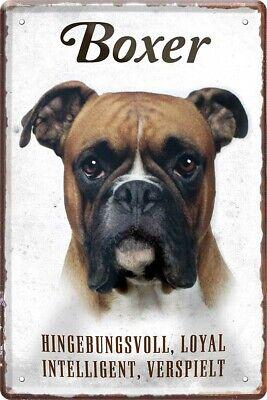 Blechschild 20x30 Boxer Hund Charakter Eigenschaften Haus