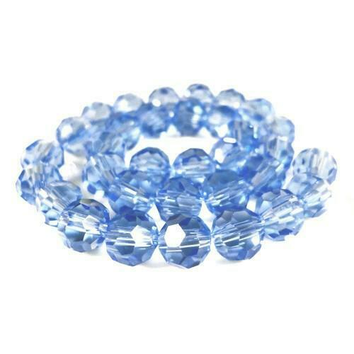 Czech Crystal Glass Faceted Round Beads 4mm Pale Blue 100 Pcs Art Hobby Crafts