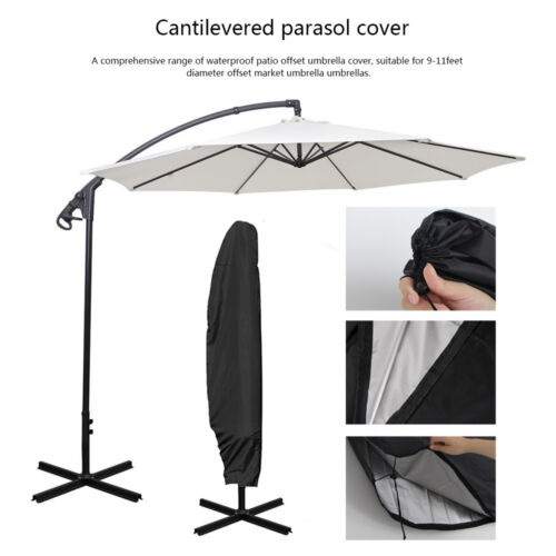 265x70cm Parasol Banana Umbrella Cover Outdoor Garden Patio Shield Waterproof UK