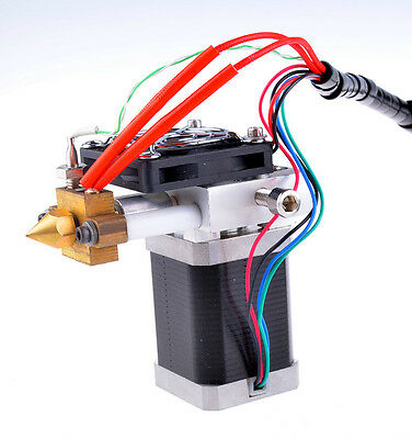 HIGH Torque 3D Printer Extruder Print Head ABS (No backlash) 1.7A + 0.3mm nozzle