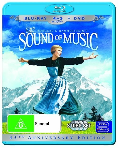 SOUND OF MUSIC : DVD / BLU-RAY Combo (3 disc set) : as NEW