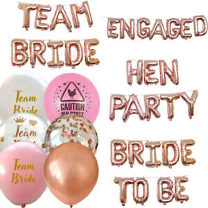 TEAM-BRIDE-HEN-PARTY-FOIL-CONFETTI-BALLOONS-TO-BE-DECORATION-BANNER-GARLAND