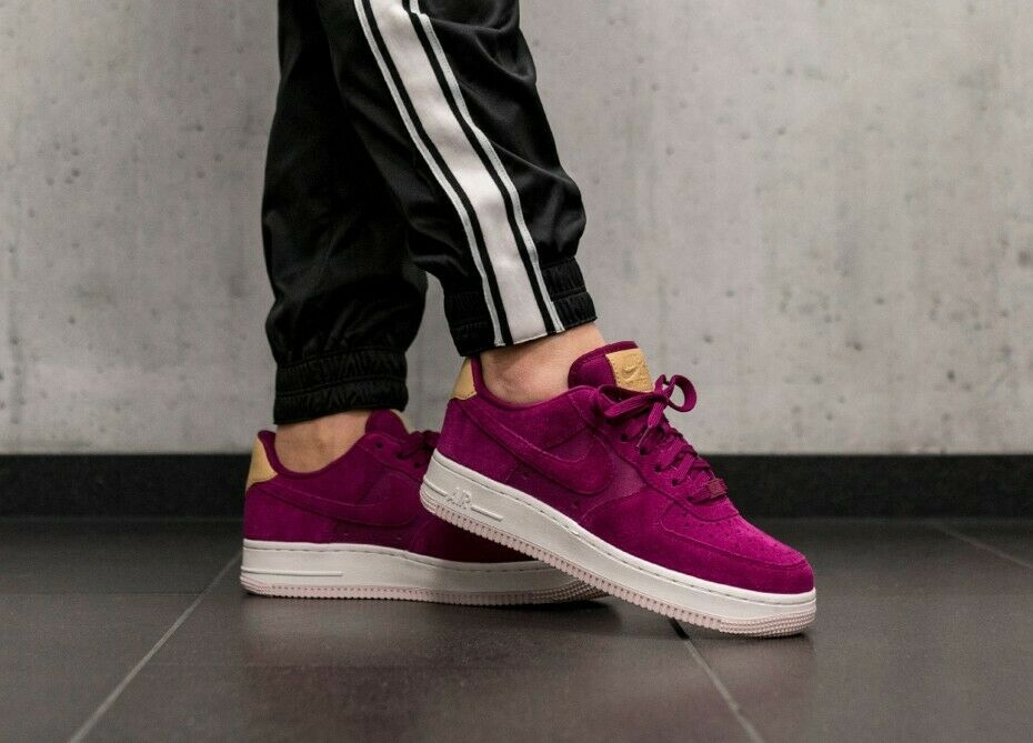 Details about WOMENS NIKE AIR FORCE 1 07 PREMIUM UK 6.5US 9EUR 40.5 PURPLEWHITE