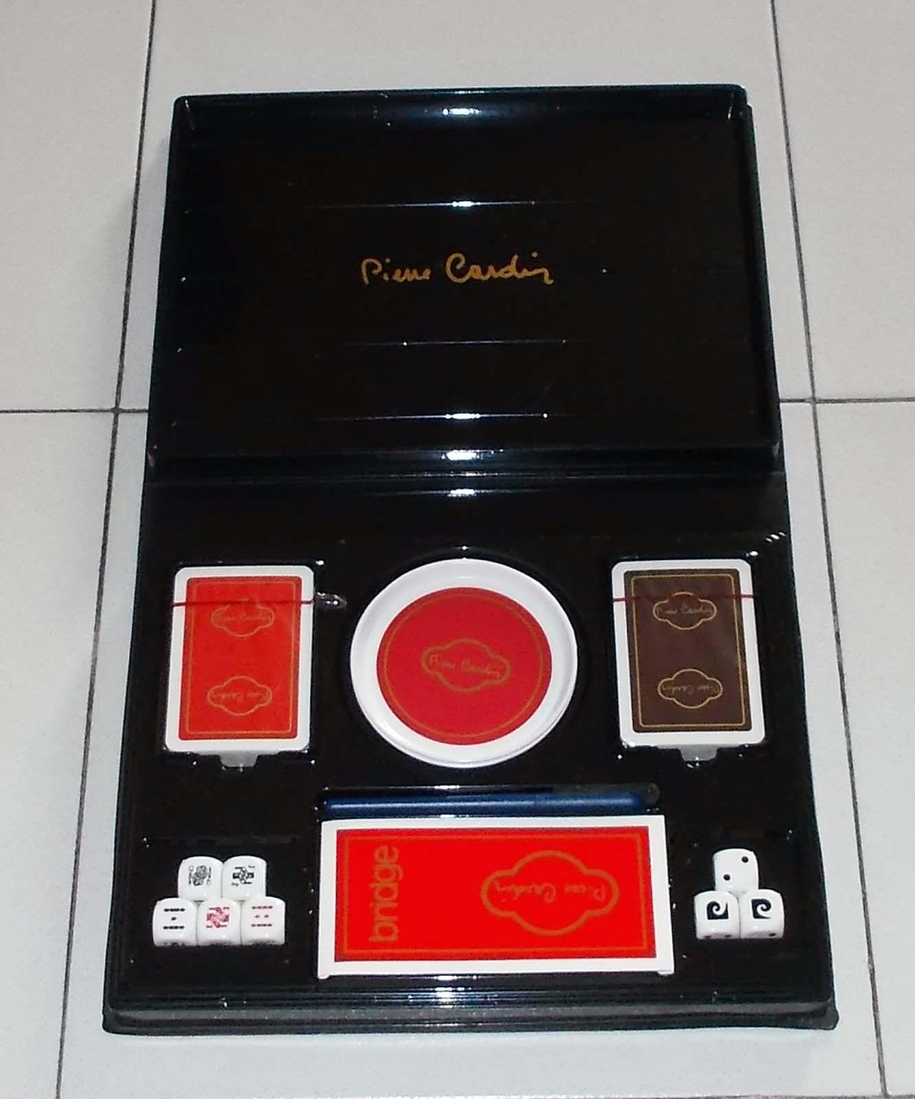 Cofanetto Carte PIERRE CARDIN Set Poker Bridge Dadi NUOVO Box playing cards