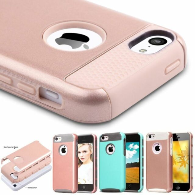 Shockproof Hybrid Thin Rubber PC Hard Case Cover Skin For Apple iPhone5C 5&5s SE