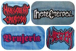 Master Malevolent Creation Brujeria embroidered logo back patch death metal