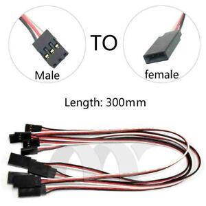 10Pcs 300 mm Y Style Servo RC Extension Lead Wire Cord Cable Pour JR Futaba 30 cm