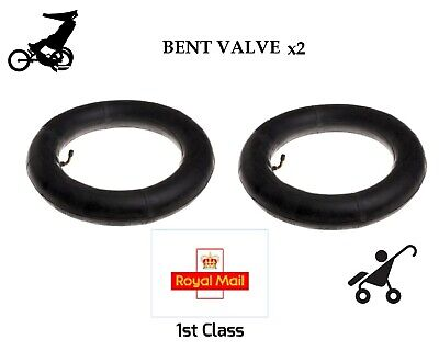 "2 x Inner Tubes 12/"" BENT VALVE Fits Phil and Teds Sport 1st Class Royal Mail"