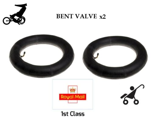 "2 X Inner Tubes 12/"" Bent Valve Fits Mountain Buggy Urban 1st Classe Royal Mail"