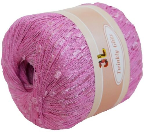 TWINKLY TRAIL GLITZ ladder trellis yarn pink Clearance