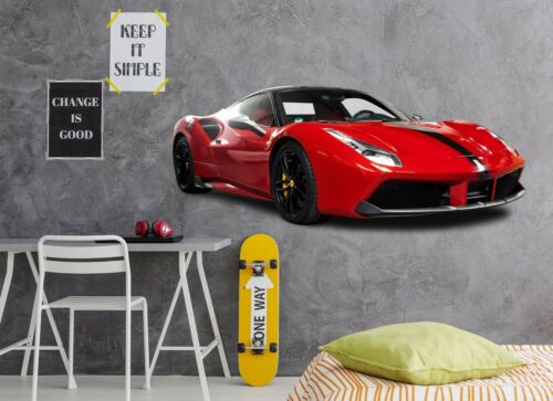 Details about  /3D Sports Car A314 Car Wallpaper Mural Poster Transport Wall Stickers Zoe