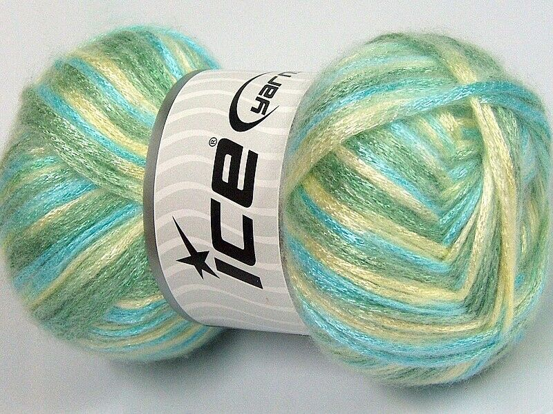 approx. 890 yds Aqua Blue Colored Beautiful Vibrant Chainette yarn on 12 lb spools