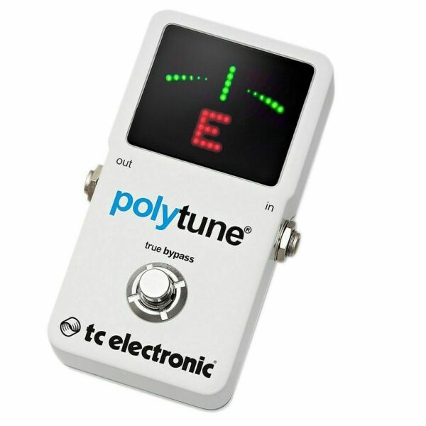 tc electronic polytune 2 poly chromatic guitar bass tuner pedal with 3 hosa cables for sale. Black Bedroom Furniture Sets. Home Design Ideas