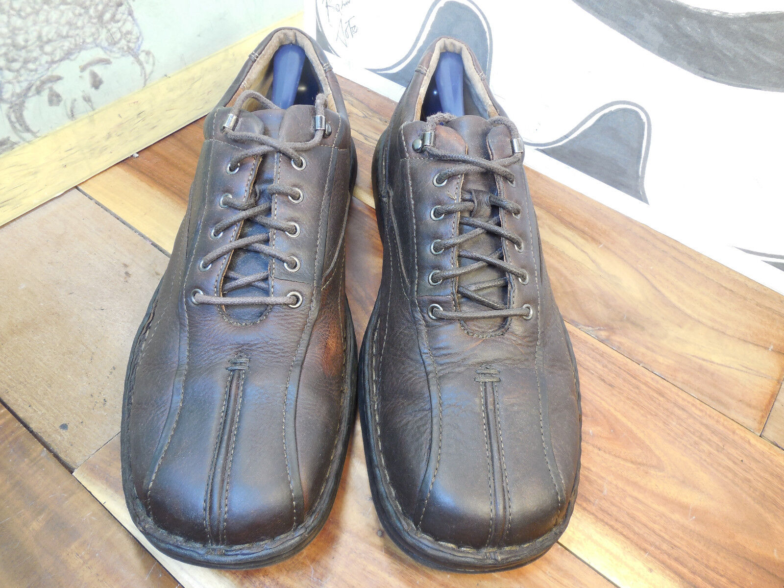 Clarks Leather Brown Leather Clarks Casual Oxfords Men's 11M 588954