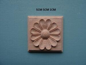 Decorative wooden appliques flower tile furniture mouldings b m