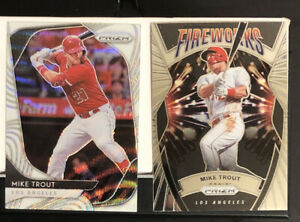 MIKE-TROUT-LOT-2-2020-Prizm-White-Wave-Prizm-Refractor-196-amp-Fireworks-F-6