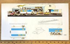 1982 Aurora AFX FALL GUY HO Slot Car Race Set CAMERA TRUCK CARDBOARD DISPLAY A+