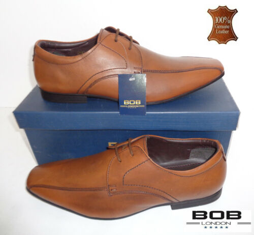 Homme Bobs London New chaussures en cuir marron clair Formelle Chaussures Tailles 7 8 9 10 11 12