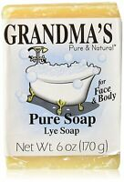Grandma's Pure & Natural Lye Soap 6oz Bar Unscented