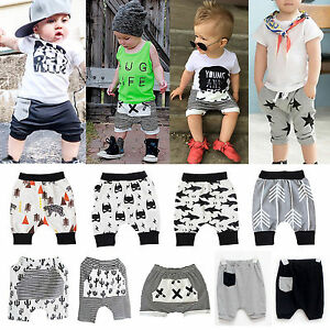 Toddler Baby Kids Boys Summer Clothes Loose Harem Pants