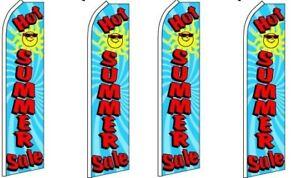 Super Sale King Swooper Flag w//Kit-Pack of 4