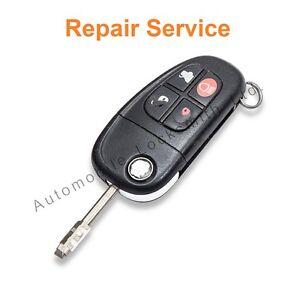 Jaguar S-Type X-Type 4 Button Remote Flip Key Repair Service Refurbishment