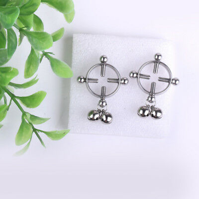 Body Piercing Breast Nail Screw Bell Fake Nipple Ring Jewelry Stainless steel Si