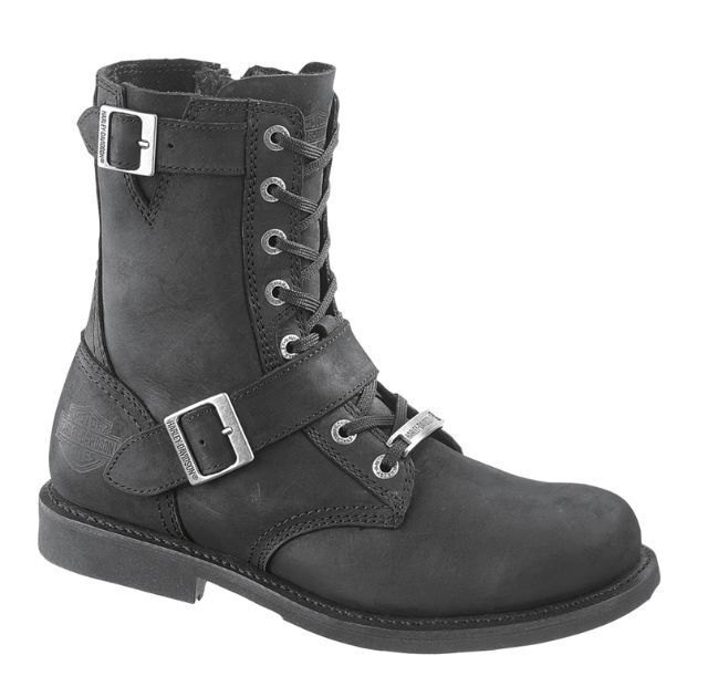 Black Leather Motorcycle Boots D95264