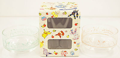 Pokemon Center Original Glass Bowl Set Eevee & Friends Sylveon 143194
