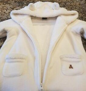 6294f6df1 NWOT Baby Gap Unisex Hooded Fleece Sherpa Bunting Snowsuit Size 6-12 ...