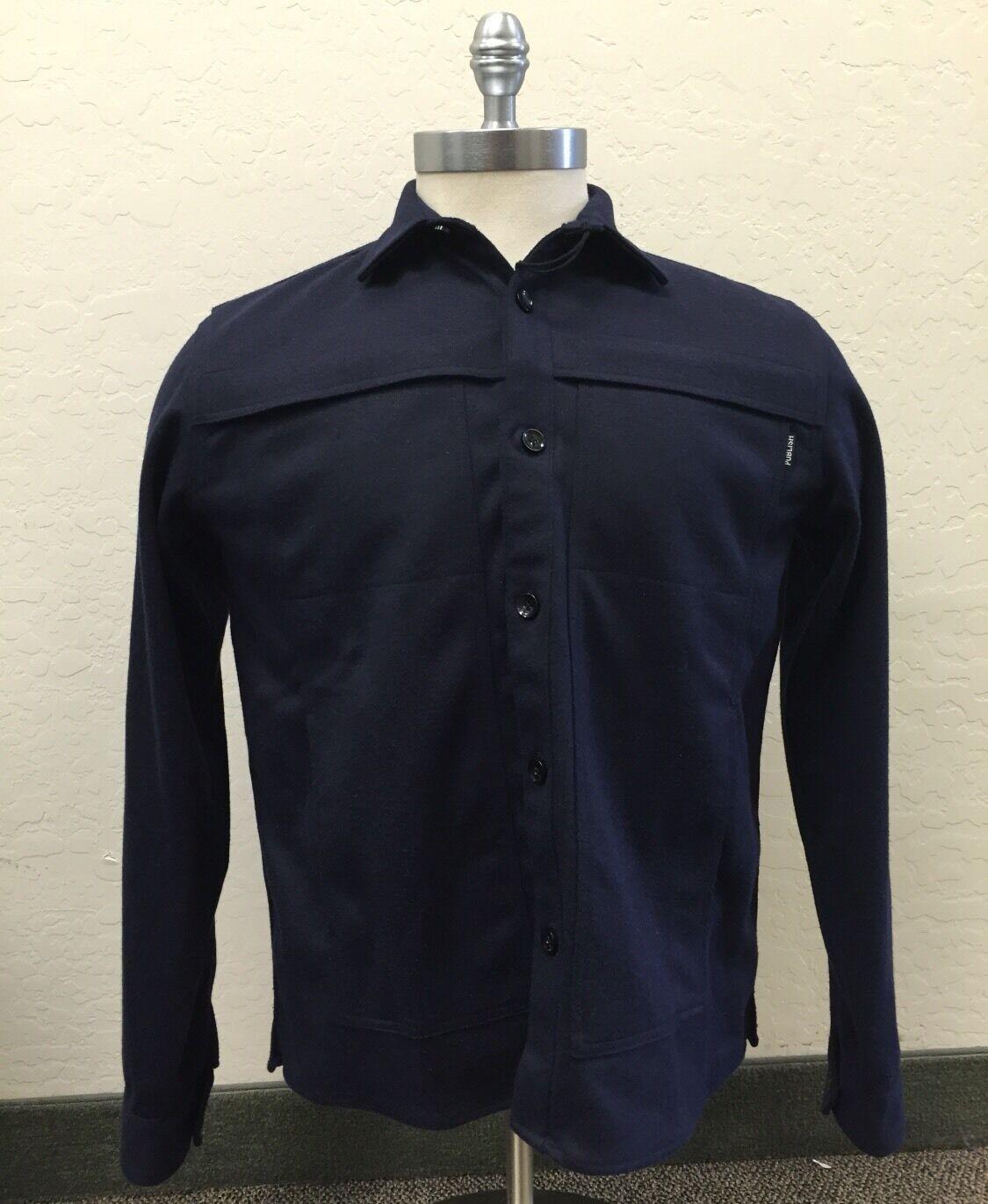 Publish Navy Cotton Flannel Shirt Navy M
