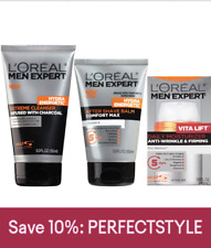 LOreal Paris Men's Expert Skin Regimen Cleanser Shave Balm and Moisturizer Set