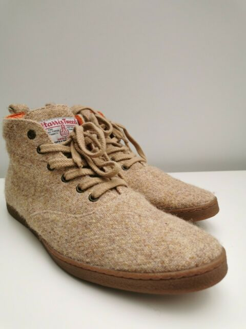 Nettle Harris Tweed High Top Mens Shoes
