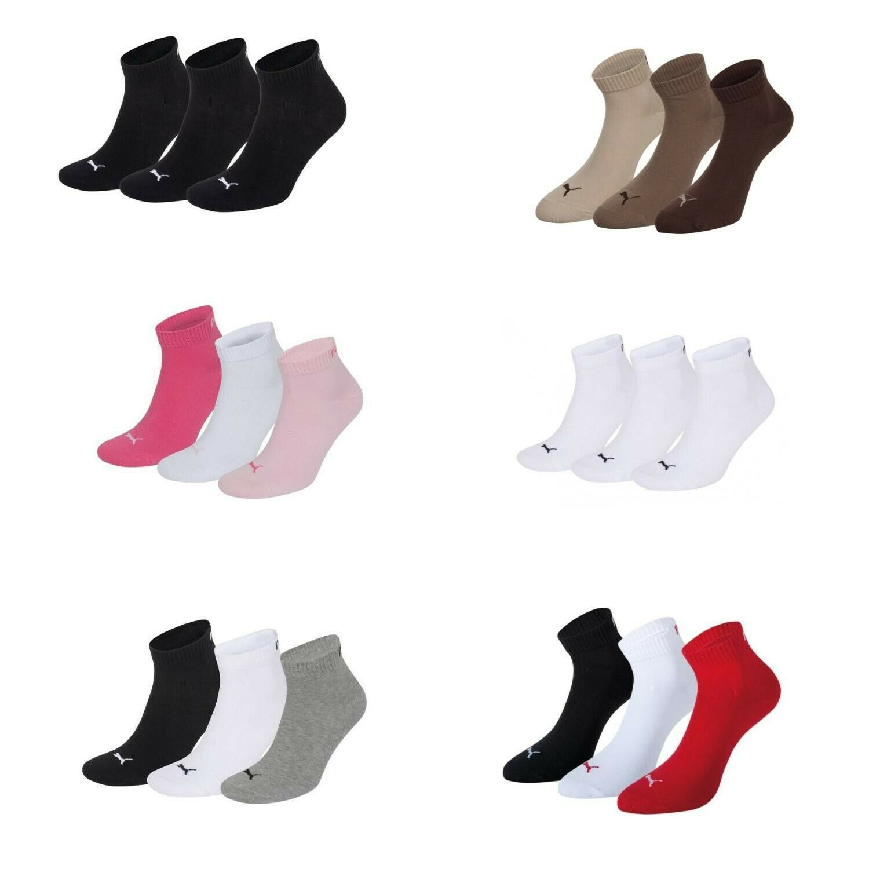PUMA Sneakersocken 3er-Pack Quarters Viele Farben