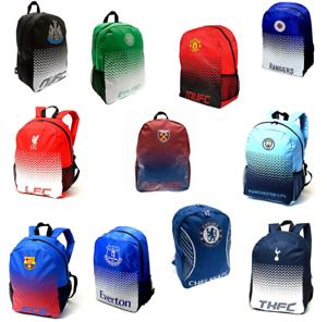 Football Backpack School Gym Kid Bag Rucksack Barcelona Liverpool Chelsea