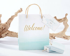 Details About 96 Personalized Beach Tides Wedding Welcome Favor Bags