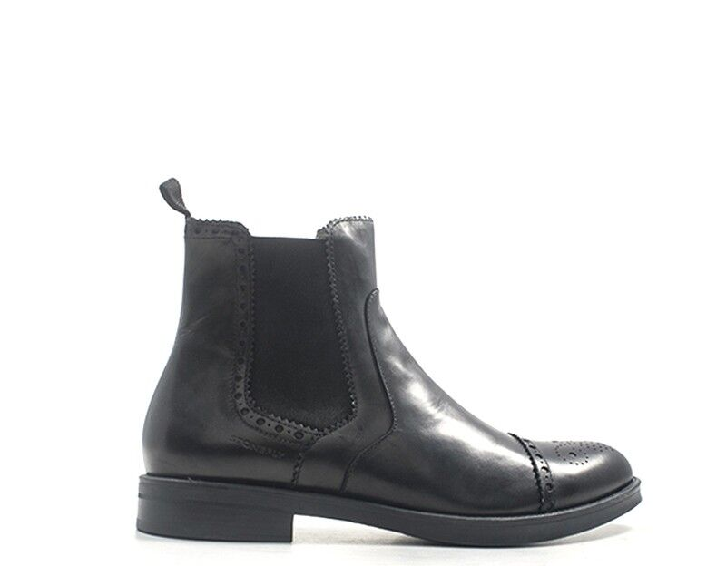 Zapatos STONEFLY Hombre negro Brogue,Cuero natural 210227-000S